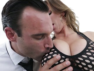 Bosomy hooker with juicy ass Alexis Fawx goes wild on hard dick and gets doggy fucked