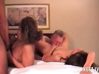 very intense orgasm in a 4some