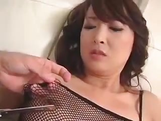 Kinky Asian Milf In Fishnets Has A Tight Peach Needing To B