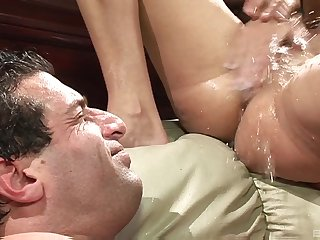 Gorgeous bitches acting wild in a squirting hardcore