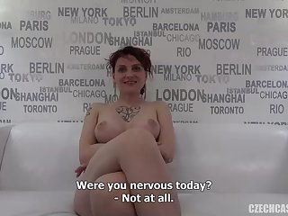 Crimson haired, Czech dame determined to become a pornographic star and went to a job interview